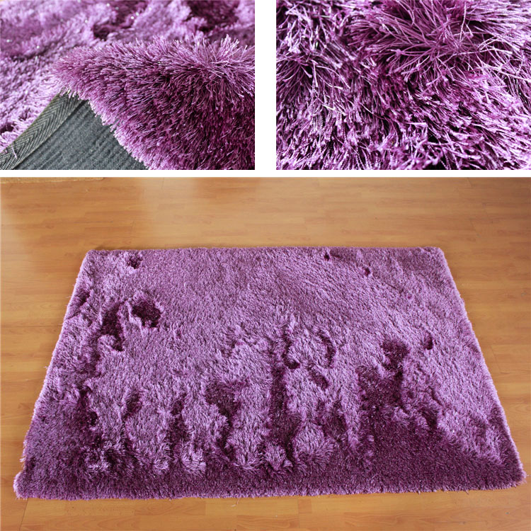 100% polyester modern long pile shaggy carpet designs supplier