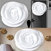 Home decoration modern resin beauty mask statues for hotel decoration