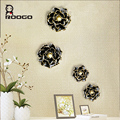 ROOGO Modren Resin Black Peony Wall Decoration/ Wall Hangings Tapestry