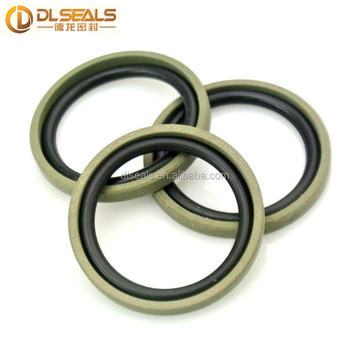 Hydraulic Cylinder teflon+nbr GSF glyd rings SPGO Double-acting Piston Seals