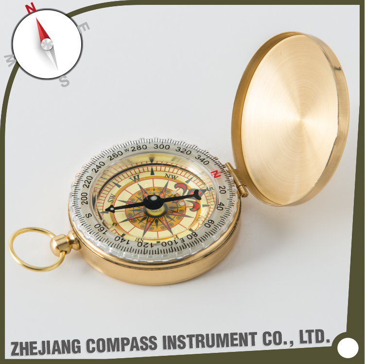 High quality brass multifunctional pocket compass for promotional gift