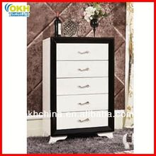 Black and White Wooden Chest of Drawers