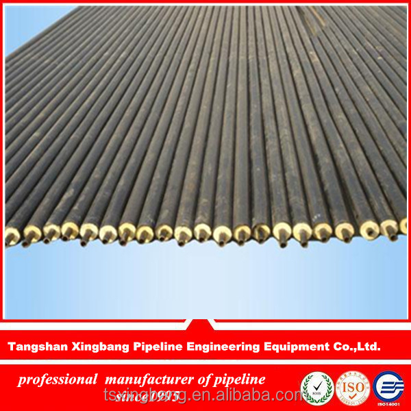 high quality china factory pu foamed filled thermal heat resistant insulation steel tubing for crude oil tubing