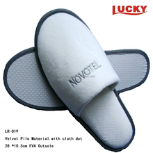 High Quality Velvet EVA Closed Toe Hotel Slipper