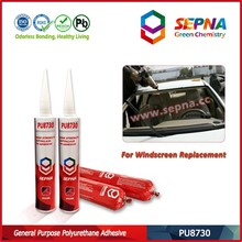 low voc no dripping for vertical application car side glass Good Adhesion with high-speed rail side glass PU8730