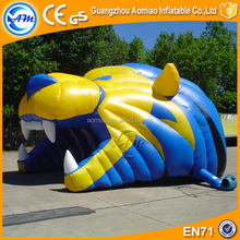 Animal inflatable football tunnel inflatable mascot tunnels