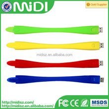 Silicone USB bracelet, hand band USB flash drive ,cheapest wholesale hand band USB flash pendrive