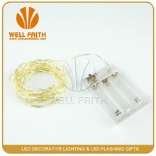 Copper Wire Warm White 2M Powered Ultra thin copper wire 3AA battery operated fiber optic led string light