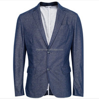 Korean Fashion Office Wear Slim Fit Knitting Designers Navy Blue Suits For Mens