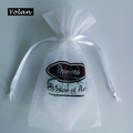 Delicate Christmas Organza Gift bag, White organza pouch