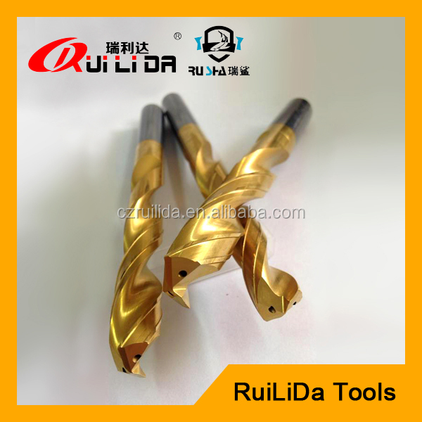 tungsten carbide square coolant hole drill bits for milling metal
