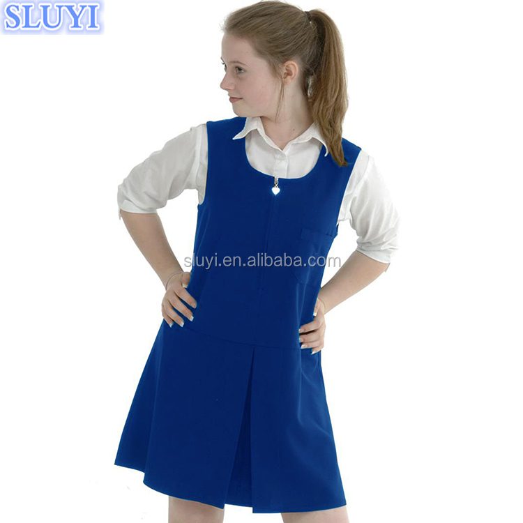 Custom latest design British Japanese style uniforms wholesale high school girls uniform with blouse and dresses