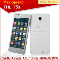 china brand mobile phone THL T5S 4.7 inch ips screen mtk6582 quad core best smart phone dual sim