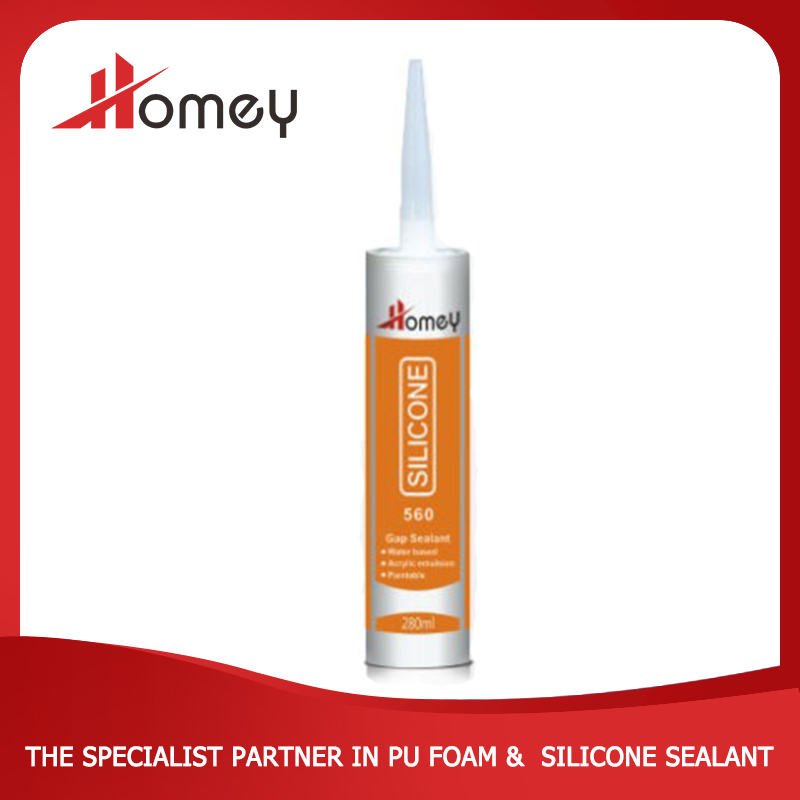 Homey 560 white color paintable anti-fungus widely used acrylic silicone sealant