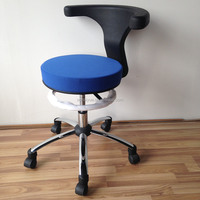 High quality lab swivel chair,lab furniture,adjustable lab swivel stool with rotating backrest