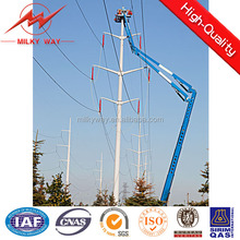 169kv transmission pole galvanized poles with galvanization and bitumen for electrical power projects