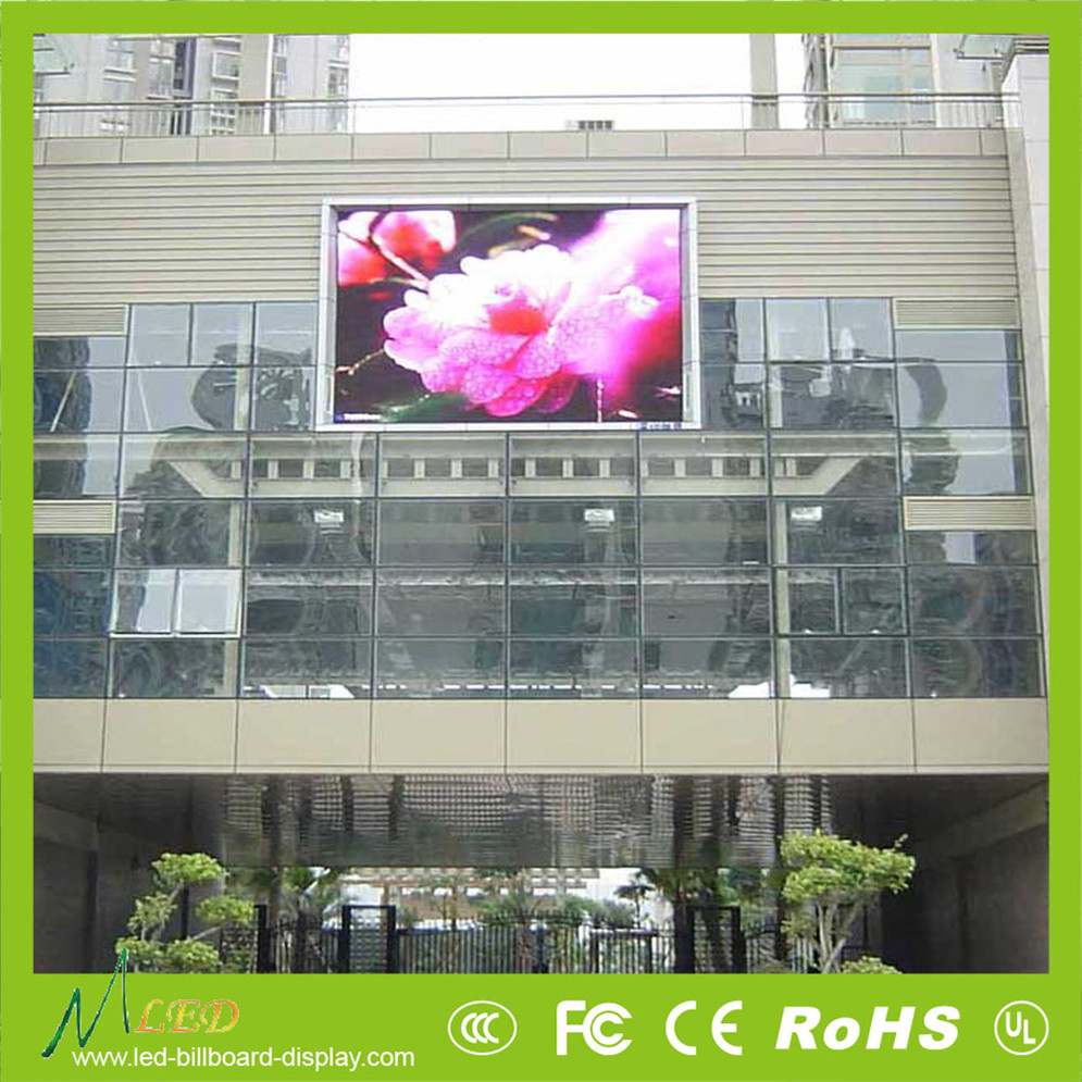 Electronics outdoor advertising media P10 led video wall