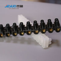 12 pole PE white colour copper europe H type Wire protector Feed Through Screw terminal block