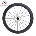 Cheap Wheels for Training ! Wholesale Dengfu 60mm Profile Carbon Tubular Road Bike Wheels with Novatec Hubs and CN494 Spokes