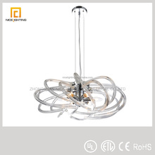Nice modern glass hanging pendant lighting with glass material tubes