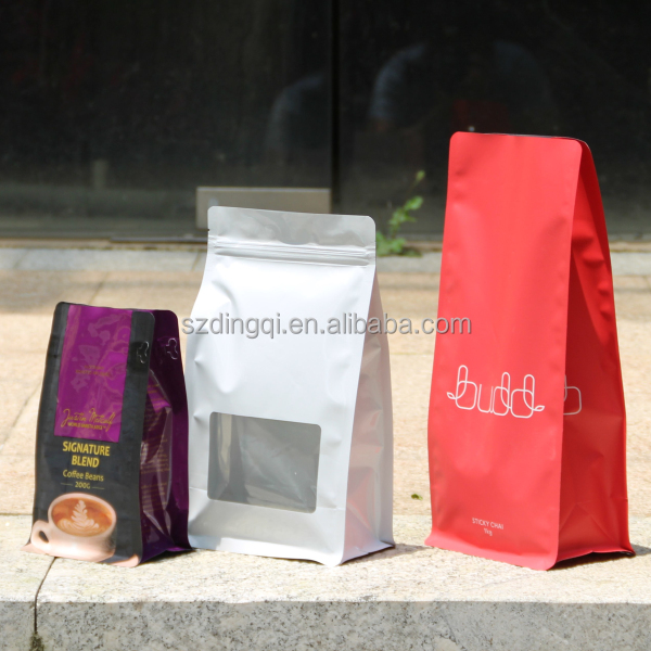Flat bottom bag plastic food packaging for dried mango/nuts all products