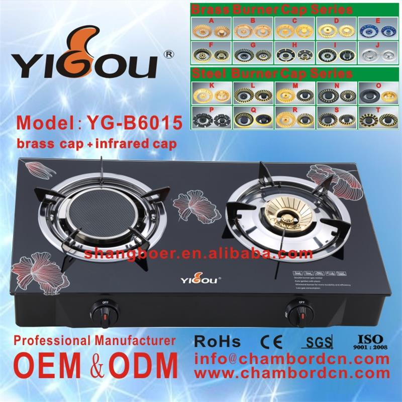 YG-B6015 2 ring gas hob tea pot induction cooker