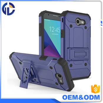 phone accessory 2 in 1 customized mobile pc hard phone case for samsung J3