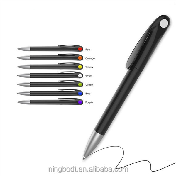Black advertising pens with custom logo printing for promotional