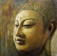 Modern buddha painting for wall decoration/modern art buddha abstract painting