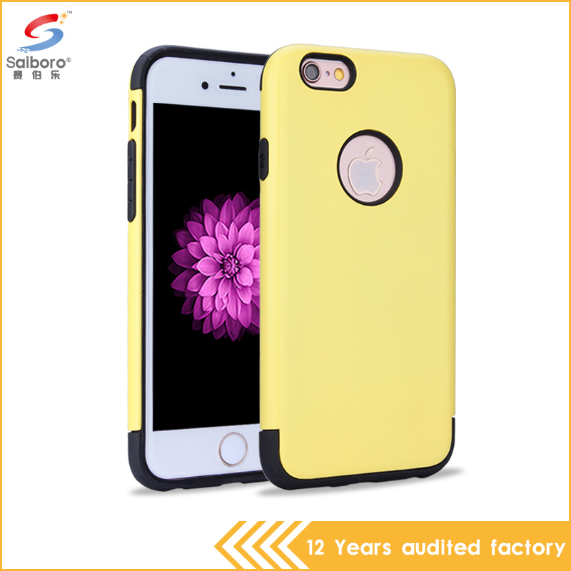 2016 New fashion colorful energetic pc tpu mars shockproof phone case for iPhone 6G