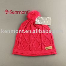 fashion lady's jacquard knit wool hat