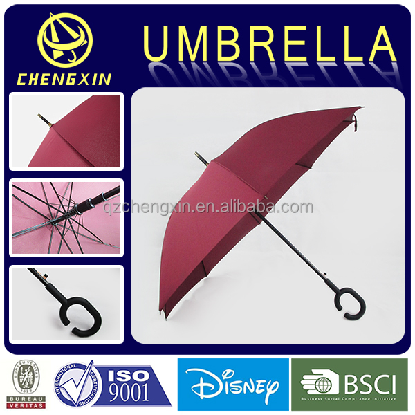 2017 new invention C handle portable straight umbrella