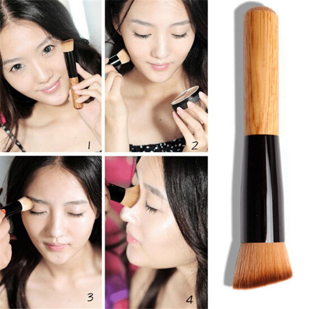 Hot Sell Custom Logo Single Foundation Makeup Brush Angle Concealer Cosmetic Brush for Makeup