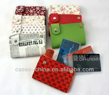 Fashional pu/pvc credit card wallet
