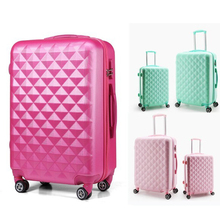 Newest popular cheap eminent 4 pcs luggage trolley case with aluminium alloy trolley,Light trolley case