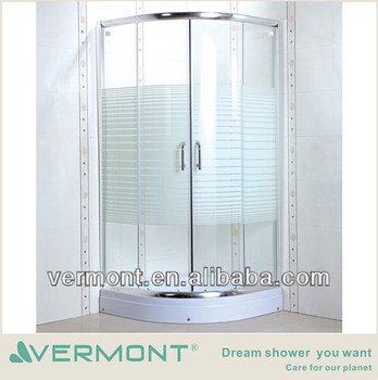 new design shower room wheels sliding glass