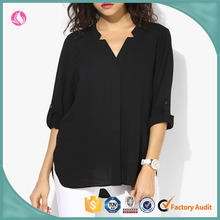 Lady Chiffon Style Blouse, Ladies V-neck Sexy Transparent Shirt
