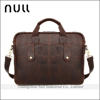 Vintage Men's Brown Leather Messenger bags Shoulder school Bags Briefcase