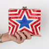 Wholesale Handmade joint contrast color acrylic box lady bag