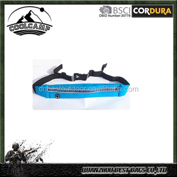 Simple running waist band with Waterproof washable neoprene/special-shaped waterproof zipper
