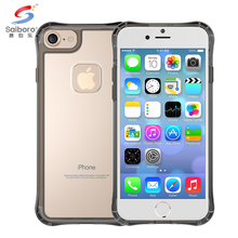Simple style fashionable Transparent PC & Soft TPU cell phone case for iphone 7 7s
