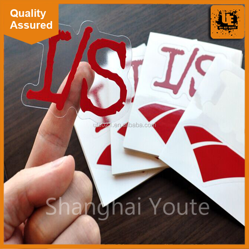 Waterproof Transparent Sticker Label / Die Cut Sticker / Clear Vinyl Sticker