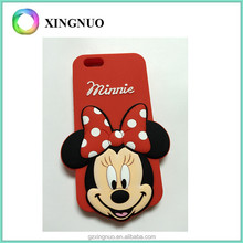 Cute 3D Cartoon Silicone Soft Rubber Gel Case Cover Mini Mouse Phone Case for iphone 6