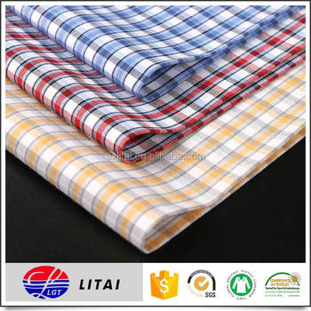 Ready goods, 50% bamboo 50% polyester yarn dyed shirting fabric