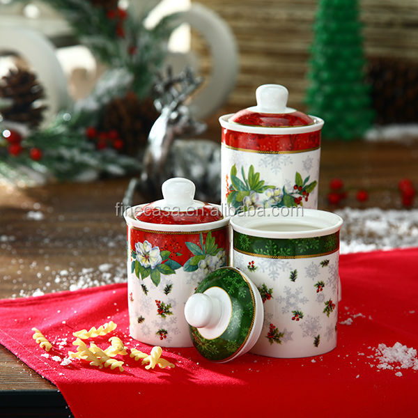 180cc Fine New Bone China Christmas Coffee Storage Container of New Christmas Promotional Items