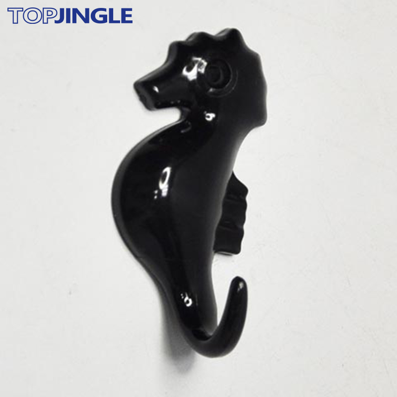 Wall Mounted Sea Horse Decorative Cute Small Plastic Hook
