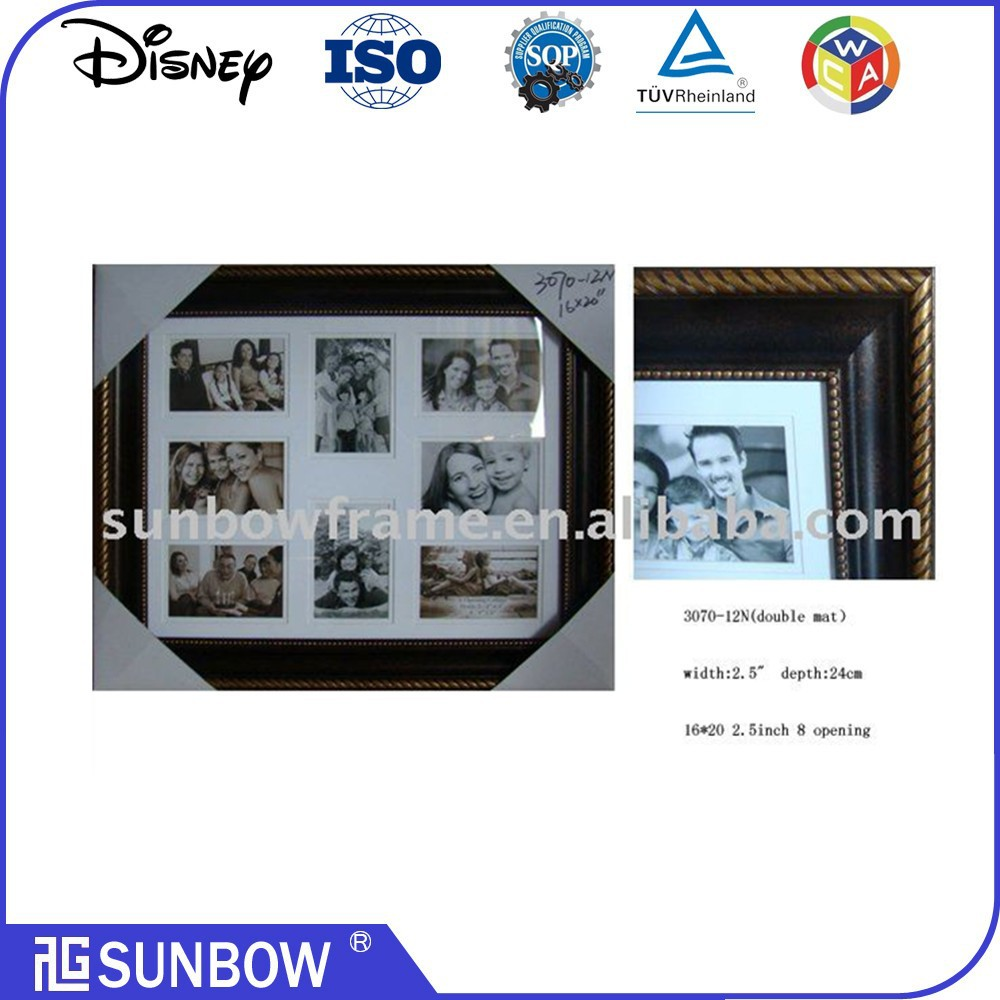 "8-opening 16X20"" Large Size Family Photo Frame Collage Ps photo frame For Wall Art"