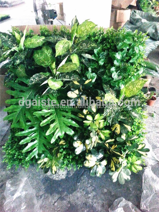 3D solid tropical style green plant arrangement standard wall decoration