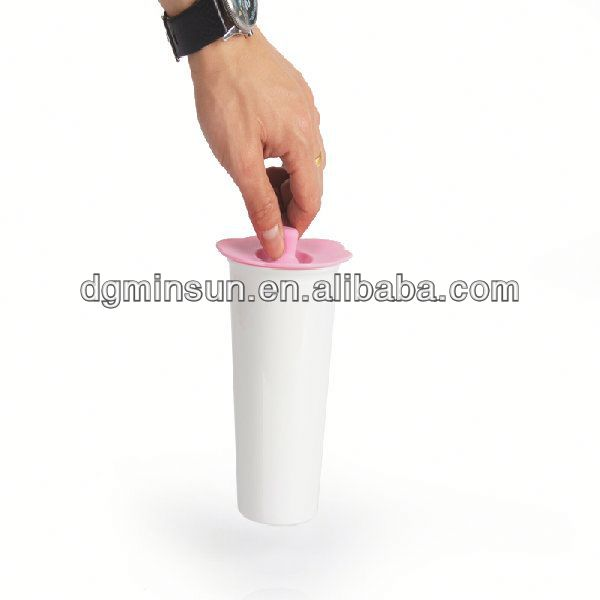 2014 New creative insulated double wall cup with silicone lid ( WW-885)