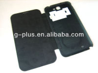 Grey Leather Flip Cover Carrying Case Pouch for Samsung Galaxy Note II 2 GT-N7100 N7100